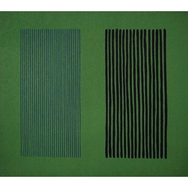Abstract Expressionism Gene Davis Green Giant 1980 For Sale - Image 3 of 3