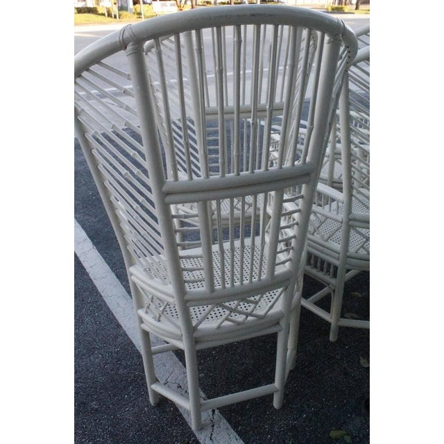 Brighton Pavilion High Back Rattan Chinese Chippendale Chairs - Set of 4 - Image 4 of 11