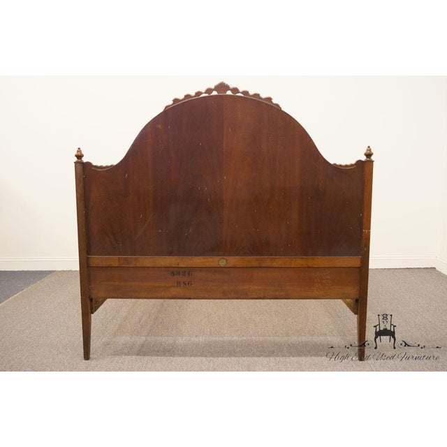20th Century French Berkey & Gay Burled Walnut Full Size Bed For Sale - Image 10 of 13