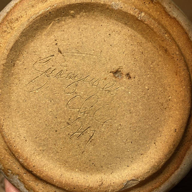 1960s Signed Studio Pottery Ram Dish/Catch All For Sale - Image 9 of 10