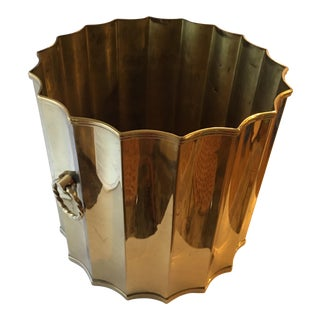Brass Planter With Ring Handles