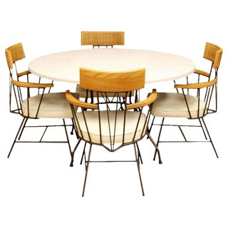 Mid Century Modern Richard McCarthy Selrite Dinette Set Table 4 Armchairs 1960s For Sale