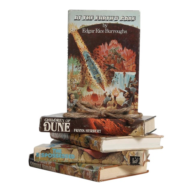 Vintage Stories From Other Worlds: Sci-Fi Gift Set, S/5 For Sale