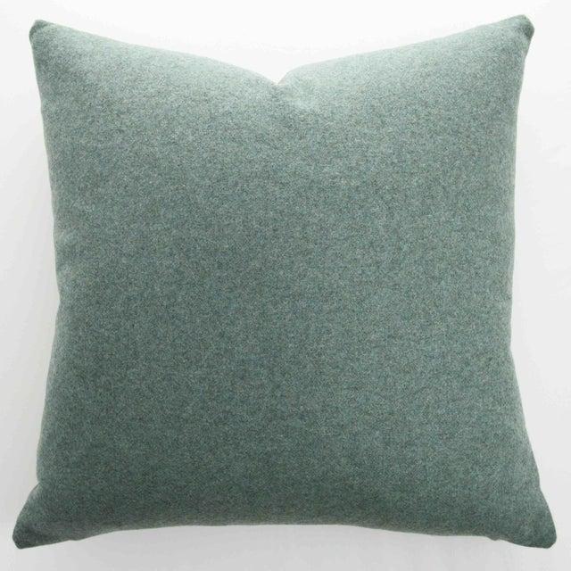 FirmaMenta Italian Sage Green Sustainable Wool Pillow - Image 9 of 9