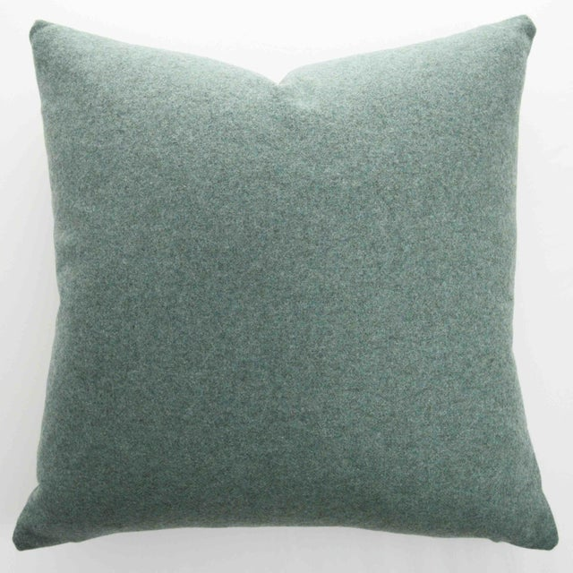 FirmaMenta Italian Solid Sage Green Sustainable Wool Pillow For Sale - Image 9 of 9