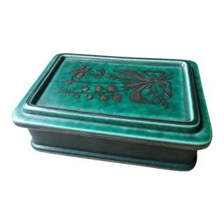 Wilhelm Kage for Gustavsberg of Stockholm Art Deco Argenta Ware Trinket Box For Sale
