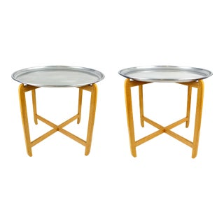 Vintage Aluminum Tray Table For Sale