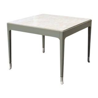 Mid-Century Modern White Fossil Game Dining Table by Maitland Smith Springer Era For Sale