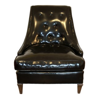 1960s Hollywood Regency Tomlinson Black Boudoir Chair For Sale