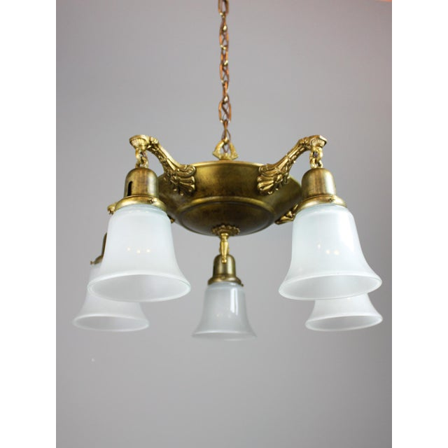Antique Pan Light Fixture (5-Light) - Image 5 of 10