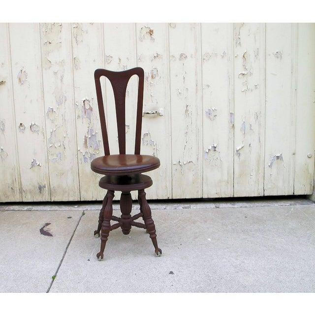 Civil War Piano Chair - Image 2 of 7
