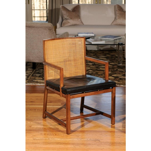 Rare Surviving Set of Six Coveted Cane Dining Chairs by Michael Taylor for Baker For Sale - Image 9 of 11