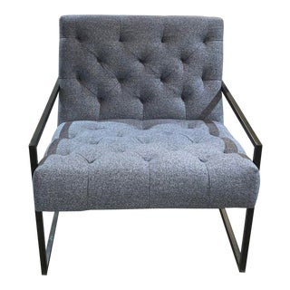 Alder Tweed Colton Occasional Chair For Sale