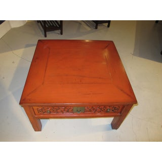 1900s Chinese Red Lacquered Coffee Table Preview