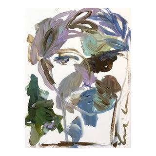 Roman Face II Original Acrylic Painting For Sale