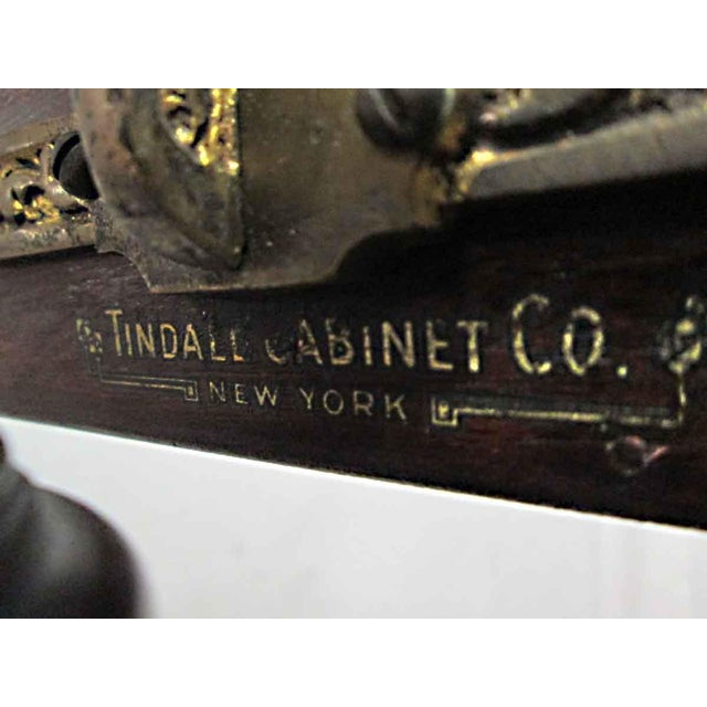 Tindale Carved Mahogany Music Stand For Sale - Image 4 of 7