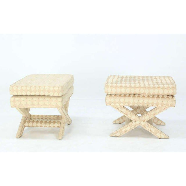 Pair of Mid-Century Modern X-Base Billy Baldwin Benches For Sale - Image 9 of 10