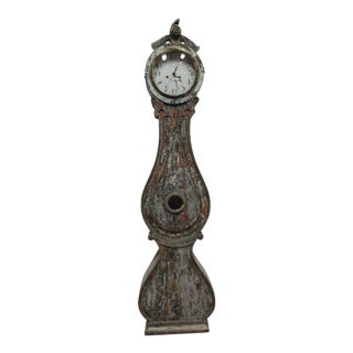 Original Painted Swedish Mora Clock For Sale