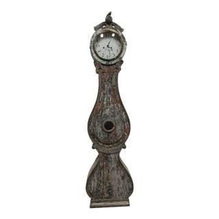 Original Painted Swedish Mora Clock For Sale