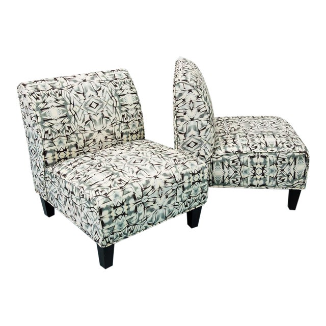 Modern Slipper Chairs - Pair - Image 1 of 5