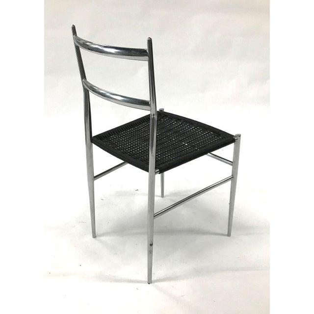 "Metal ""Leggera"" Chrome Chair by Gio Ponti, 1960s For Sale - Image 7 of 11"