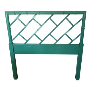 Vintage Henry Link High Gloss Lacquer Twin Headboard For Sale