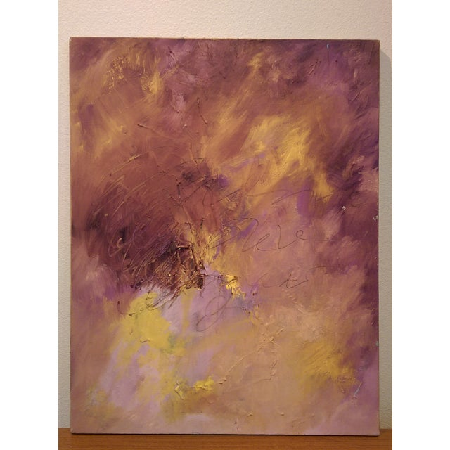 Original Oil on Canvas Abstract Modern Painting - Image 2 of 6