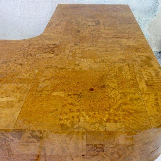 Silver Paul Evans for Directional Burl Top City Scape Desk For Sale - Image 8 of 9