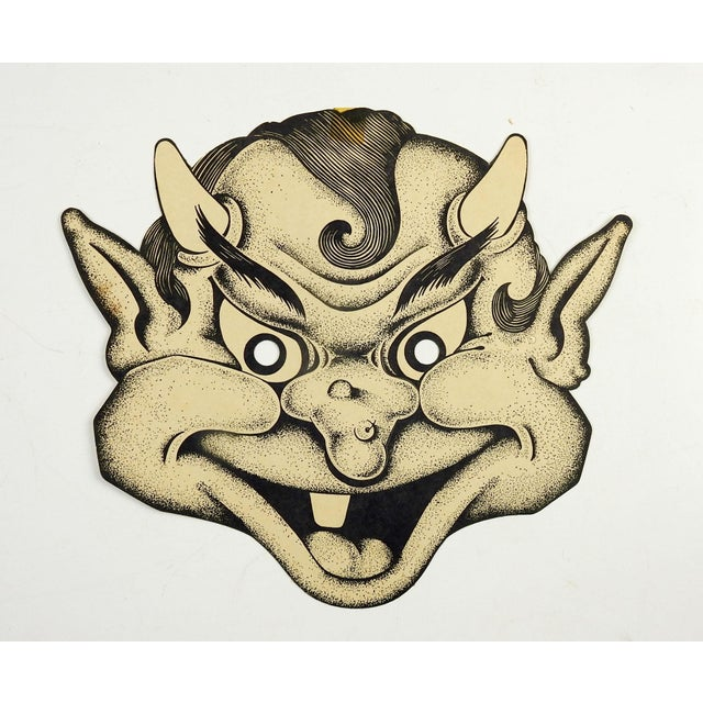 Abstract 1948 Halloween Smiling Goblin Mask For Sale - Image 3 of 3