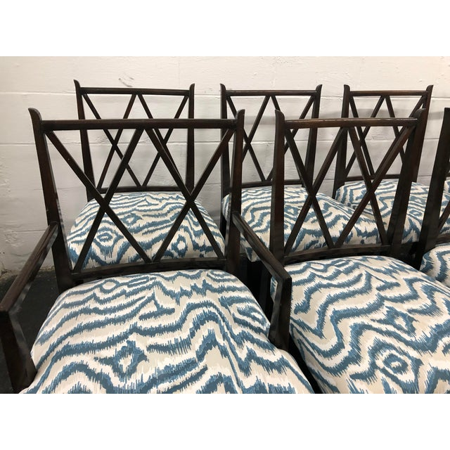 20th Century Tommi Parzinger set of 8 Dining Chairs (2 arms (dims slightly larger) and 6 sides) that will be a fabulous...