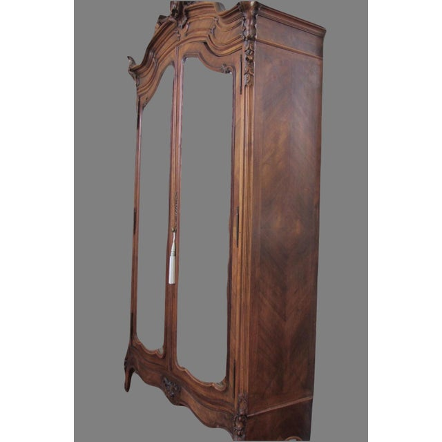 Mirrored Carved Wood Armoire - Image 2 of 10
