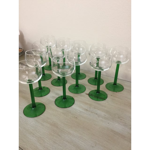 1960s Mid Century Cristal d'Arques Glasses - Set of 12 For Sale In Miami - Image 6 of 10