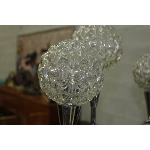Circa 1960s French Mid Century Six Light Chrome Chandelier For Sale - Image 4 of 11