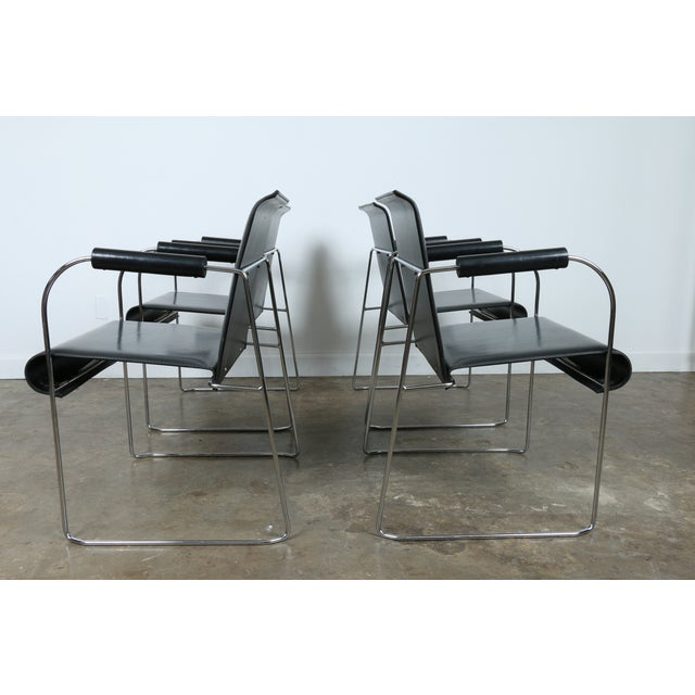 Arrben Italy Arm Chairs - Set of 4 - Image 3 of 11