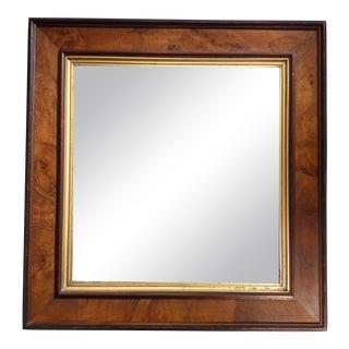 19th Century Traditional Walnut Burl Mirror For Sale