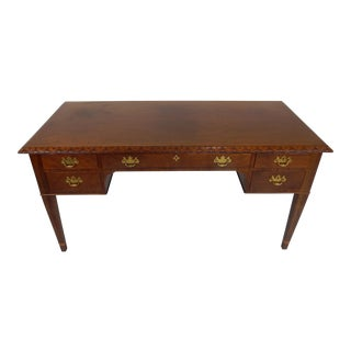 Baker Furniture Co. Historic Charleston Collection Chippendale Walnut Desk For Sale