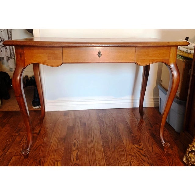 Italian Louis XV Style Cherry Wood Writing Desk For Sale - Image 13 of 13