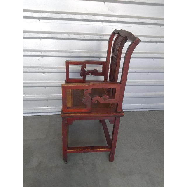 Late 19th Century Antique Chinese Officials Chair For Sale - Image 4 of 13