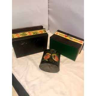 Early 19th Century American Toleware Painted Tin Boxes and Tea Caddie- 3 Pieces Preview