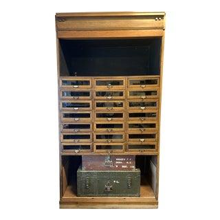 1950s Vintage Haberdashery Cabinet Shop Display For Sale