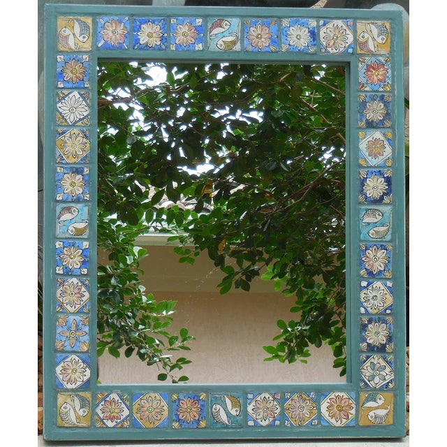 Hand Painted Persian Tile Mirror - Image 8 of 11