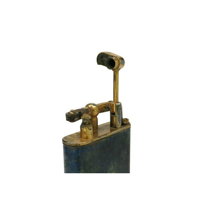 Metal Aged Lift Arm Table Lighter by Dunhill - 50th Anniversary Sale For Sale - Image 7 of 9