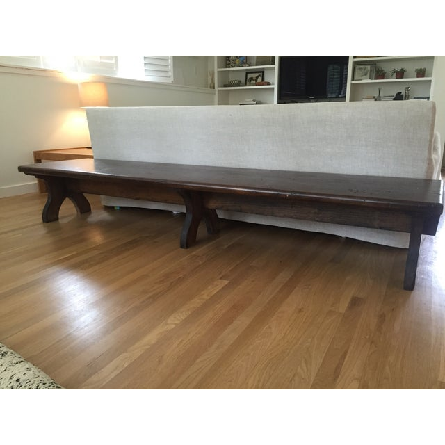 8' Distressed Monk's Bench - Image 8 of 9