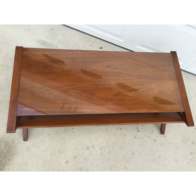 John Van Koert Walnut Coffee Table - Image 5 of 11