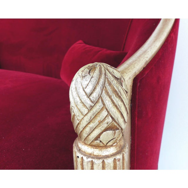Art Deco Paul Follot French Art Deco Settee and Bergères Set For Sale - Image 3 of 13