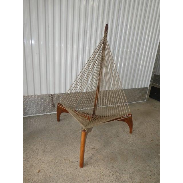Wood Mid Century Modern Danish Modern Jorgen Hovelskov Harp Chair For Sale - Image 7 of 10