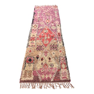 Moroccan Style Pink Anthropologie Runner For Sale