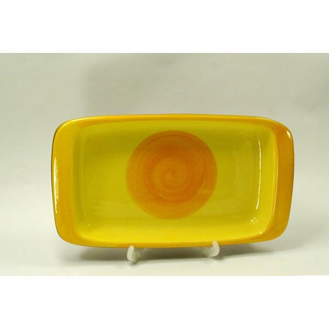 MCM Swedish Yellow/Orange Stoneware Tray - Image 4 of 6