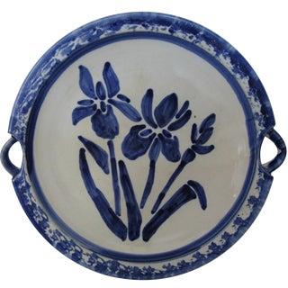 Blue Iris Stoneware Platter
