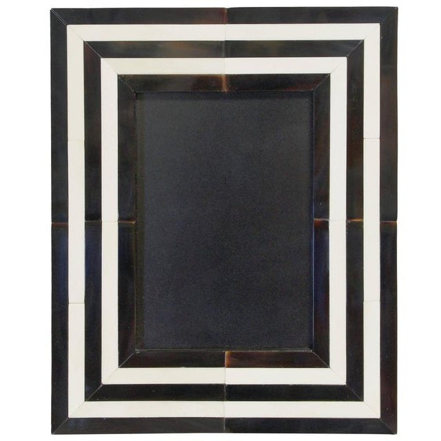 Bone Black and White Horn Photo Frame by Fabio Ltd For Sale - Image 7 of 7